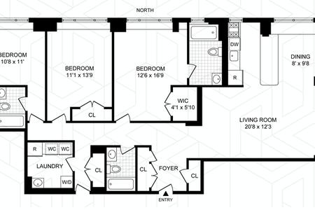 3 Bed at 120 Riverside Blvd Unit 4OP