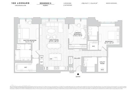 3 Bed at 120 Riverside Blvd Unit 3G