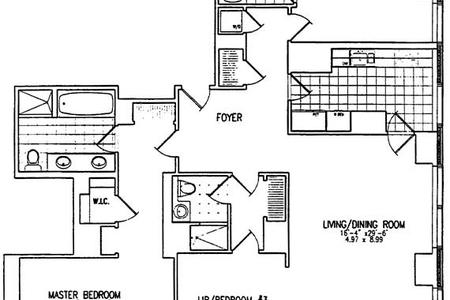 3 Bed at 120 Riverside Blvd Unit 6A