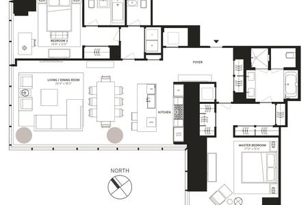 2 Bed at 120 Riverside Blvd Unit 38C