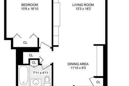 1 Bed at 120 Riverside Blvd Unit 6E