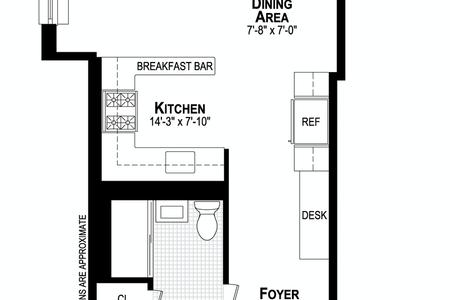 1 Bed at 120 Riverside Blvd Unit 3L