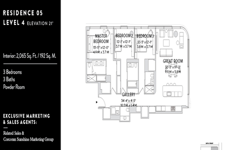 3 Bed at 120 Riverside Blvd Unit 05