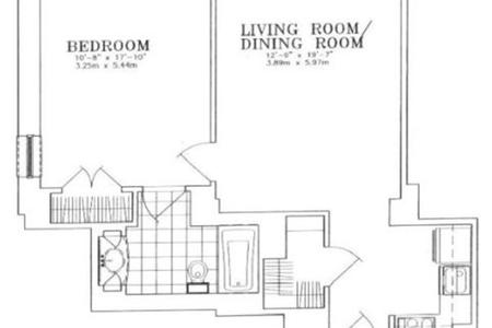 1 Bed at 120 Riverside Blvd Unit 15H