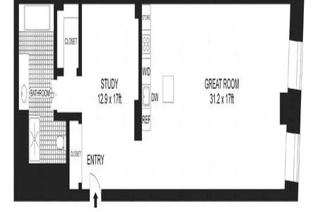 1 Bed at 120 Riverside Blvd Unit 706