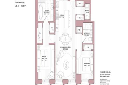 2 Bed at 120 Riverside Blvd Unit 5F