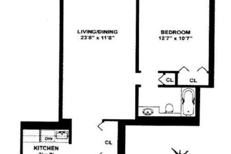 1 Bed at 120 Riverside Blvd Unit 6S