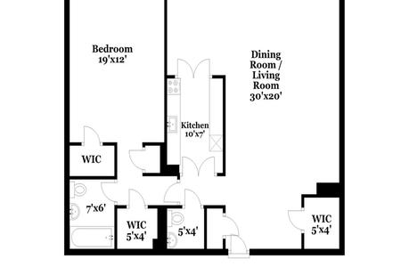 1 Bed at 120 Riverside Blvd Unit 4P