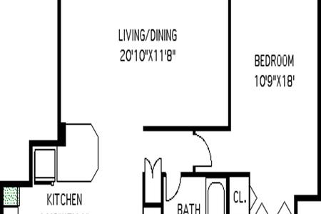 1 Bed at 120 Riverside Blvd Unit 2M