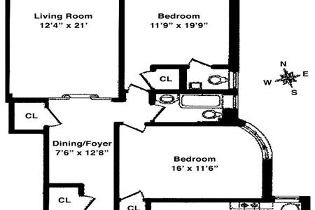 2 Bed at 120 Riverside Blvd Unit 5E