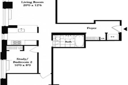 2 Bed at 120 Riverside Blvd Unit 25E