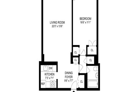 1 Bed at 120 Riverside Blvd Unit 14F