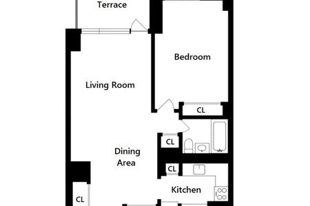 1 Bed at 120 Riverside Blvd Unit 16H