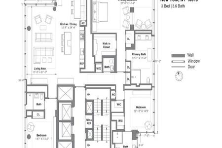 3 Bed at 120 Riverside Blvd Unit 52FL