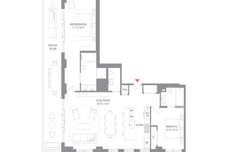 2 Bed at 120 Riverside Blvd Unit 1102