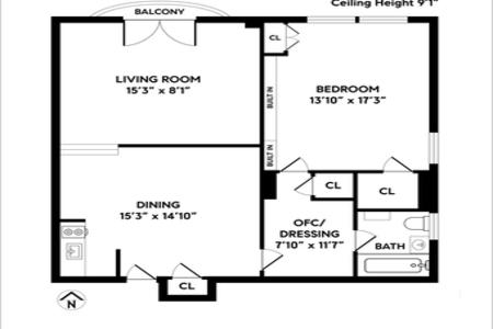 1 Bed at 120 Riverside Blvd Unit 906