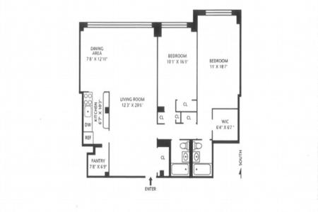 2 Bed at 120 Riverside Blvd Unit 9M