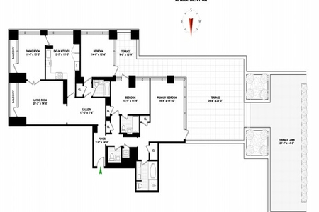 3 Bed at 120 Riverside Blvd Unit 8A