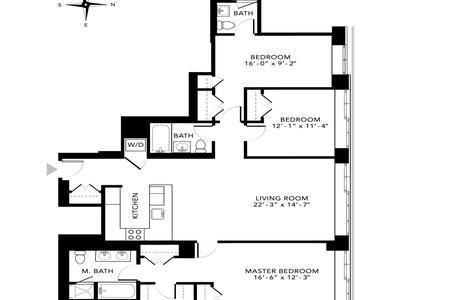 3 Bed at 120 Riverside Blvd Unit 5C
