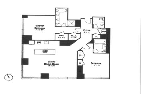 2 Bed at 120 Riverside Blvd Unit 903