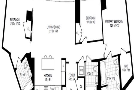 3 Bed at 120 Riverside Blvd Unit 3H