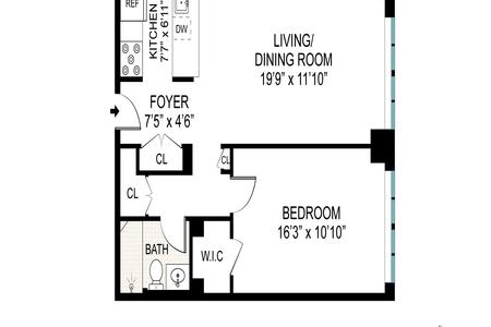 1 Bed at 120 Riverside Blvd Unit 9X