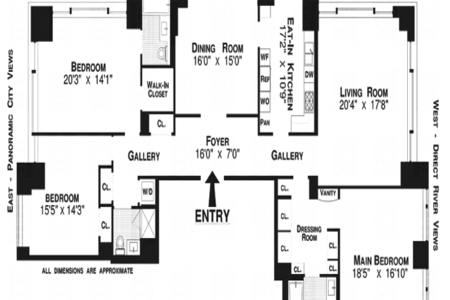 3 Bed at 120 Riverside Blvd Unit PH2B