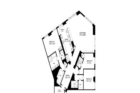 3 Bed at 120 Riverside Blvd Unit 7E