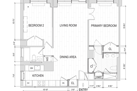 2 Bed at 120 Riverside Blvd Unit 11H