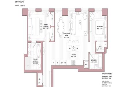 2 Bed at 120 Riverside Blvd Unit 16B