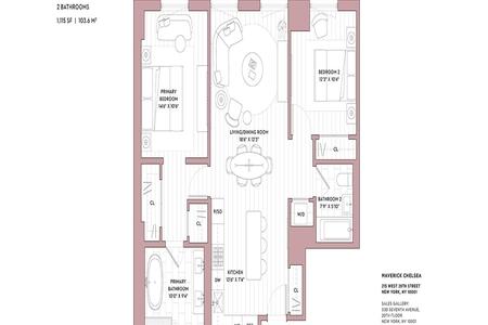 2 Bed at 120 Riverside Blvd Unit 5A