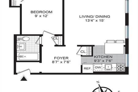 1 Bed at 120 Riverside Blvd Unit 2D