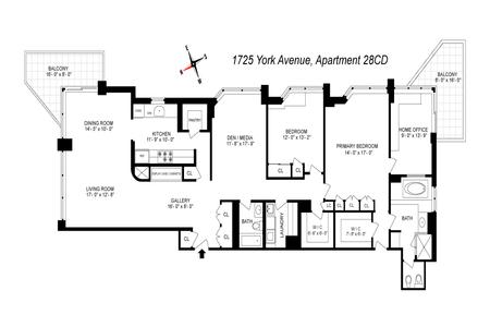 2 Bed at 120 Riverside Blvd Unit 28CD