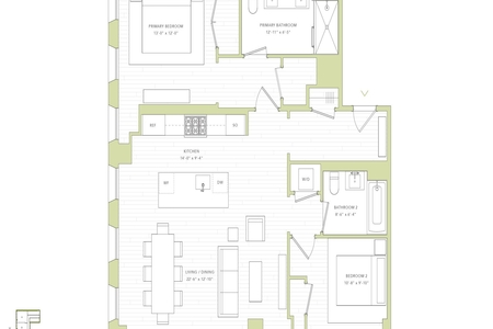 2 Bed at 120 Riverside Blvd Unit 4E