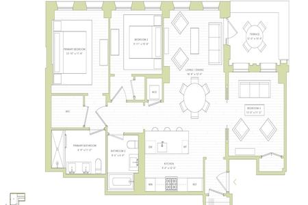 3 Bed at 120 Riverside Blvd Unit 9C