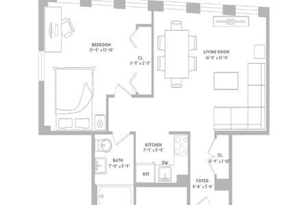 1 Bed at 120 Riverside Blvd Unit 12F