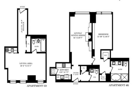 1 Bed at 120 Riverside Blvd Unit 4K1D