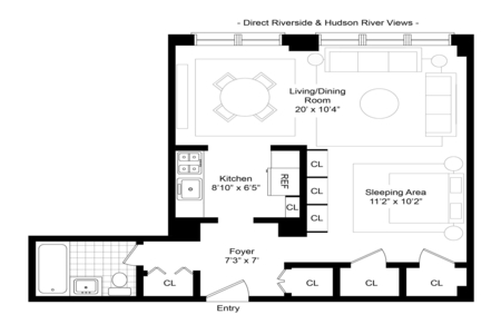0 Bed at 120 Riverside Blvd Unit W5H