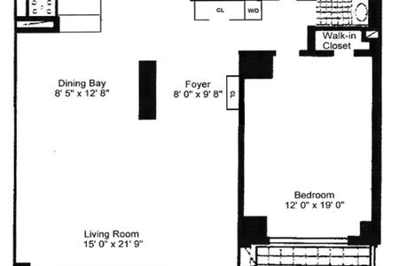 1 Bed at 120 Riverside Blvd Unit 9F