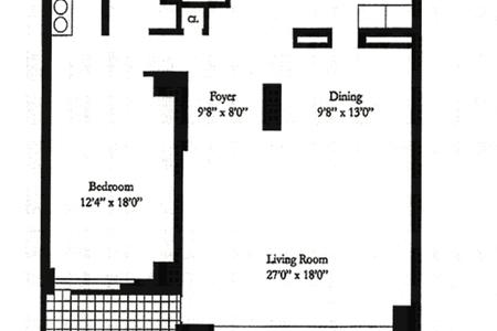 1 Bed at 120 Riverside Blvd Unit 8E