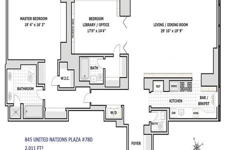 2 Bed at 120 Riverside Blvd Unit 78D