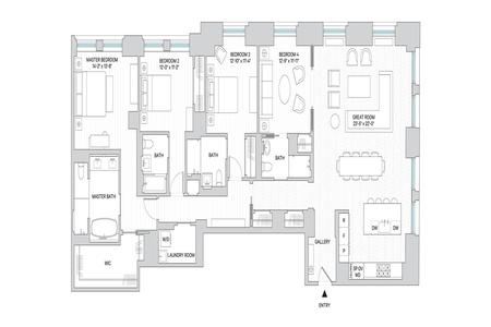 4 Bed at 120 Riverside Blvd Unit 7N
