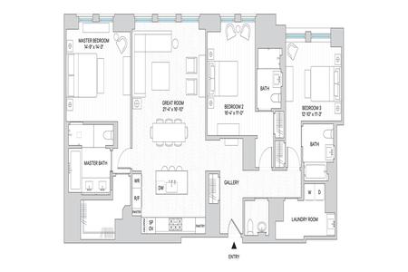 3 Bed at 120 Riverside Blvd Unit 8G