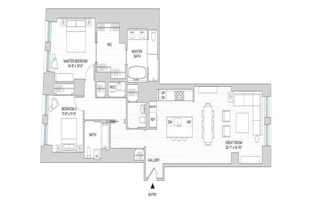 2 Bed at 120 Riverside Blvd Unit 8M