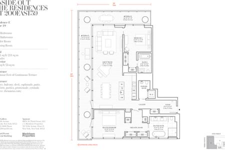 2 Bed at 120 Riverside Blvd Unit 19E