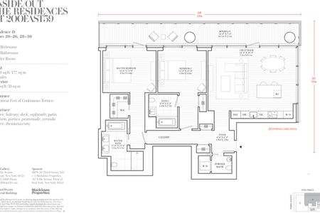 2 Bed at 120 Riverside Blvd Unit 19D