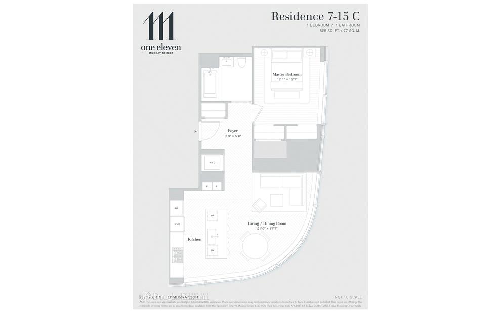 Unit 15C at 111 Murray Street, New York, NY 10007