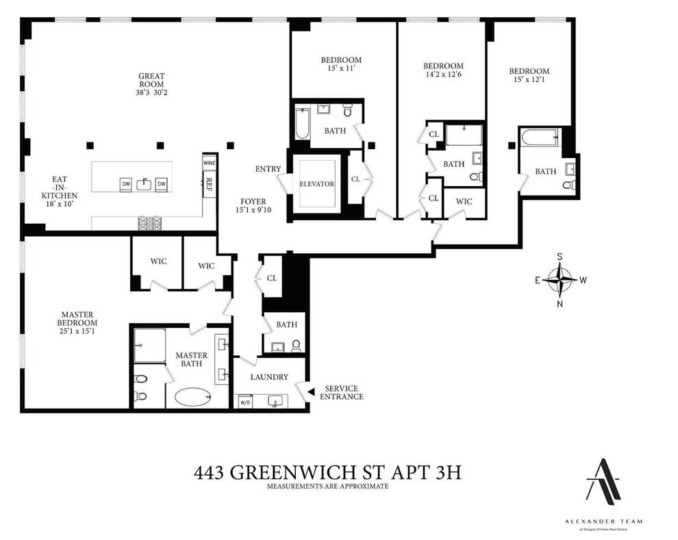 Unit 3H at 443 Greenwich Street, New York, NY 10013