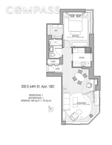 Unit 18D at 300 East 64th Street, New York, NY 10065