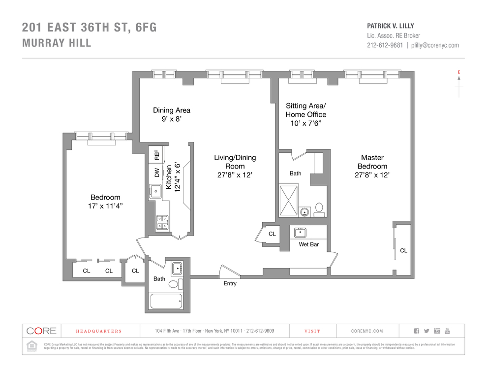Unit 6FG at 201 East 36th Street, New York, NY 10016